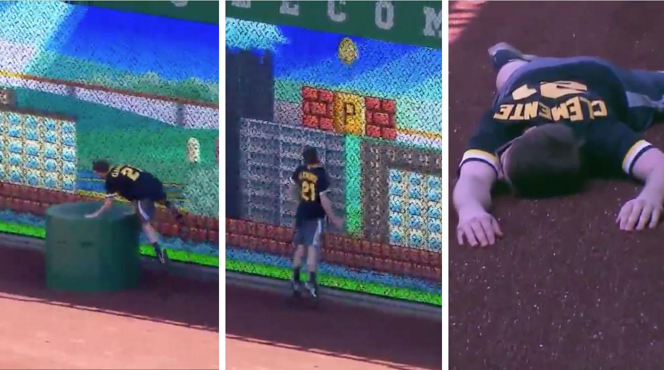 Fan plays real-life Super Mario Bros.