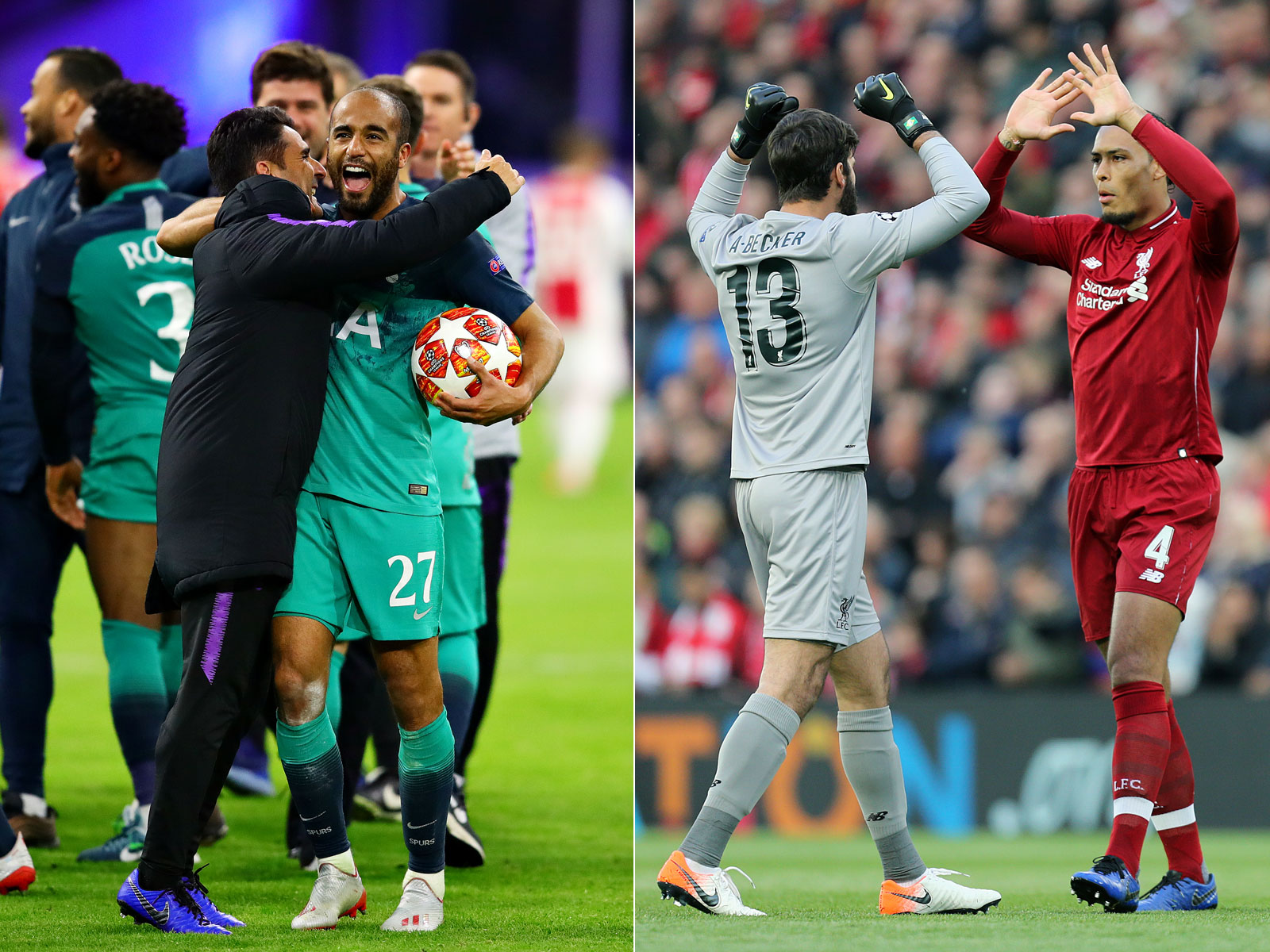 Tottenham and Liverpool have reached the Champions League final