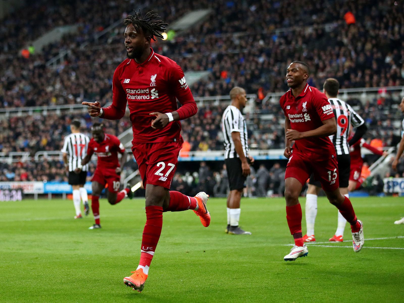 Divock Origi scores for Liverpool vs. Newcastle