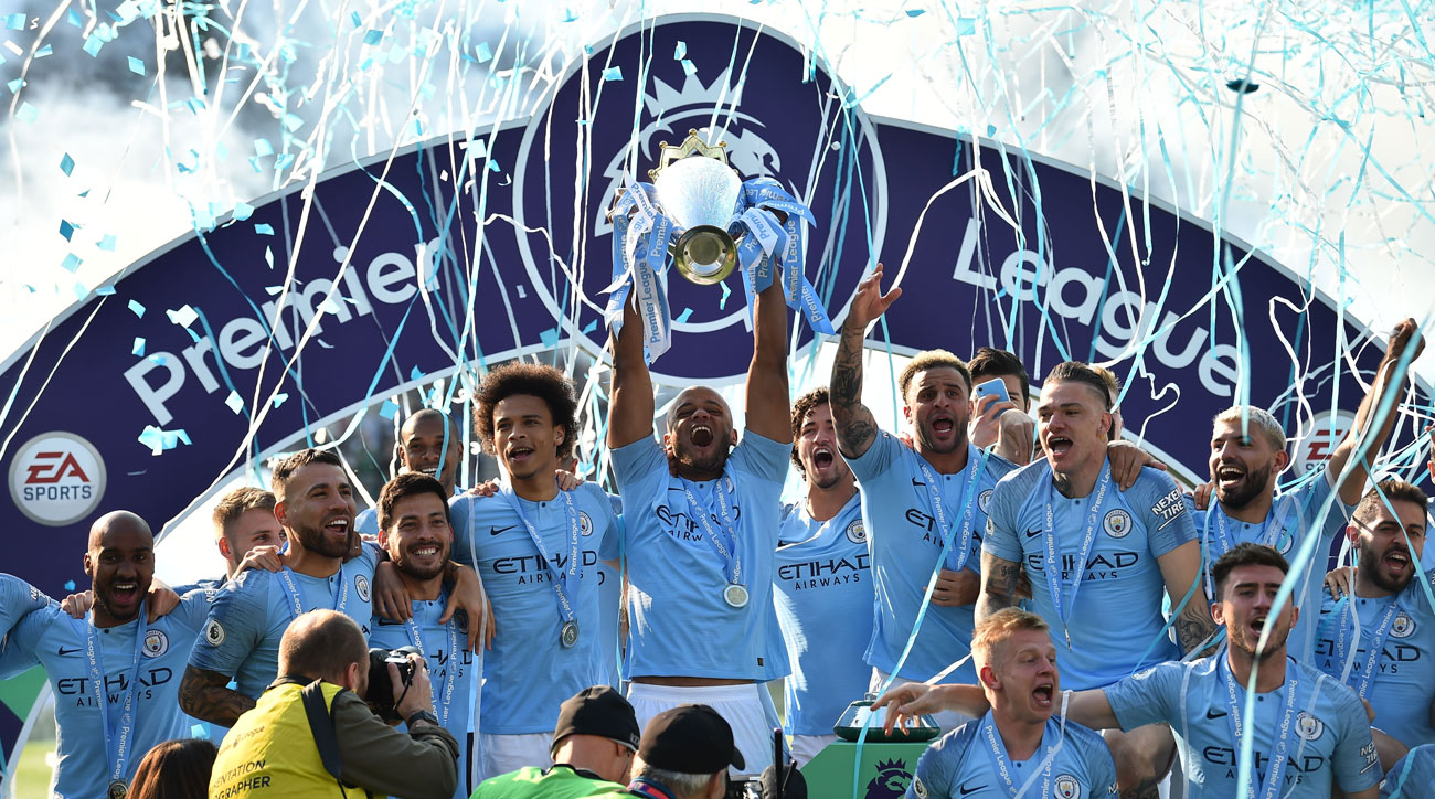 Manchester City wins the Premier League title for a second season in a row
