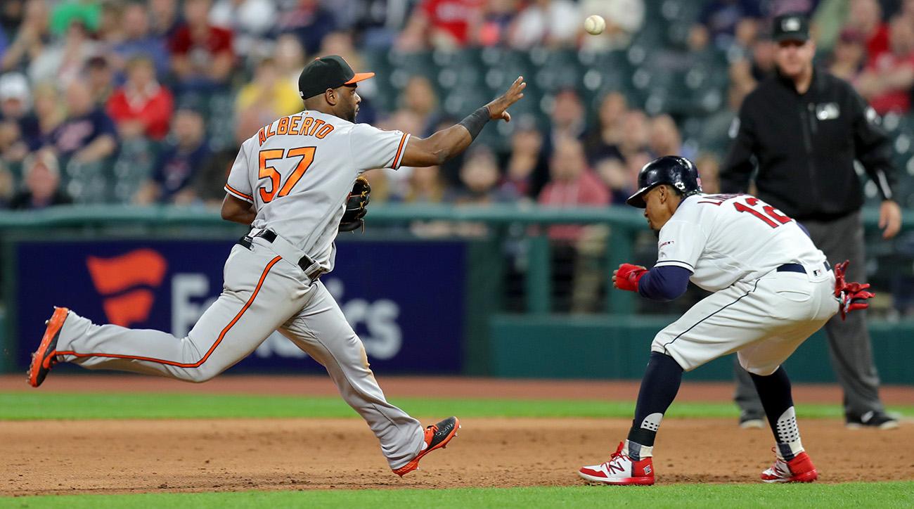 MLB: MAY 16 Orioles at Indians
