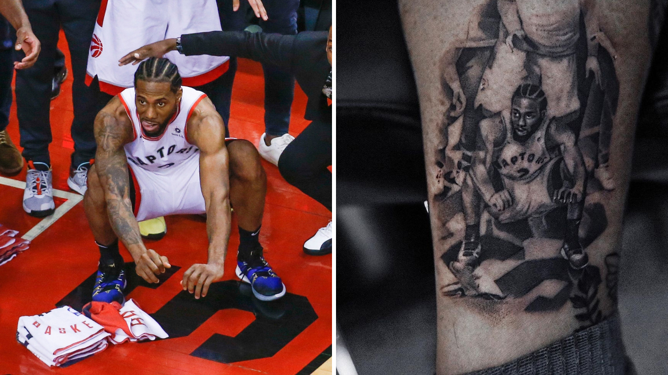Raptors fan gets tattoo of Kawhi Leonard shot photo