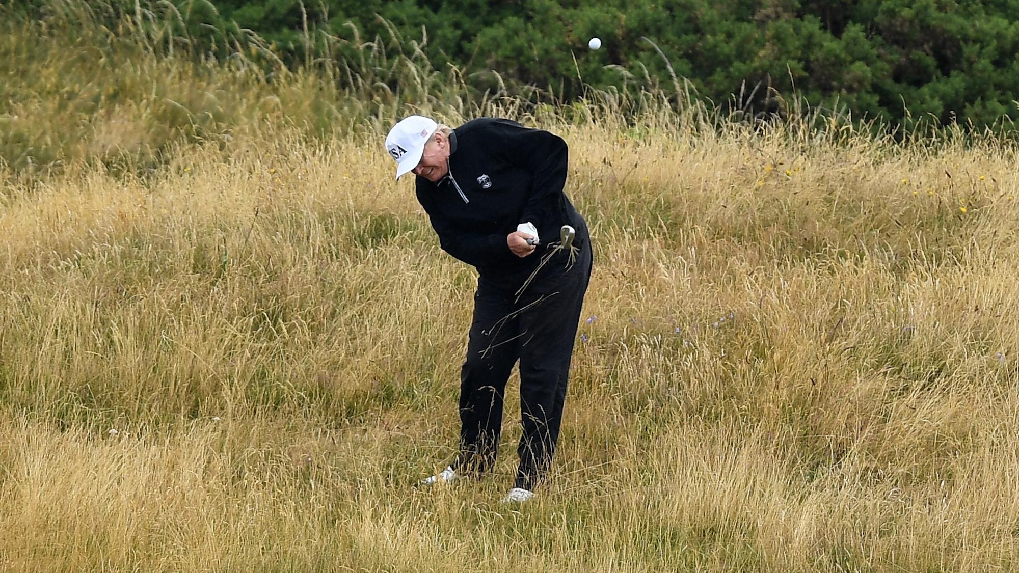 Donald Trump golf score: President posts 68 on handicap site