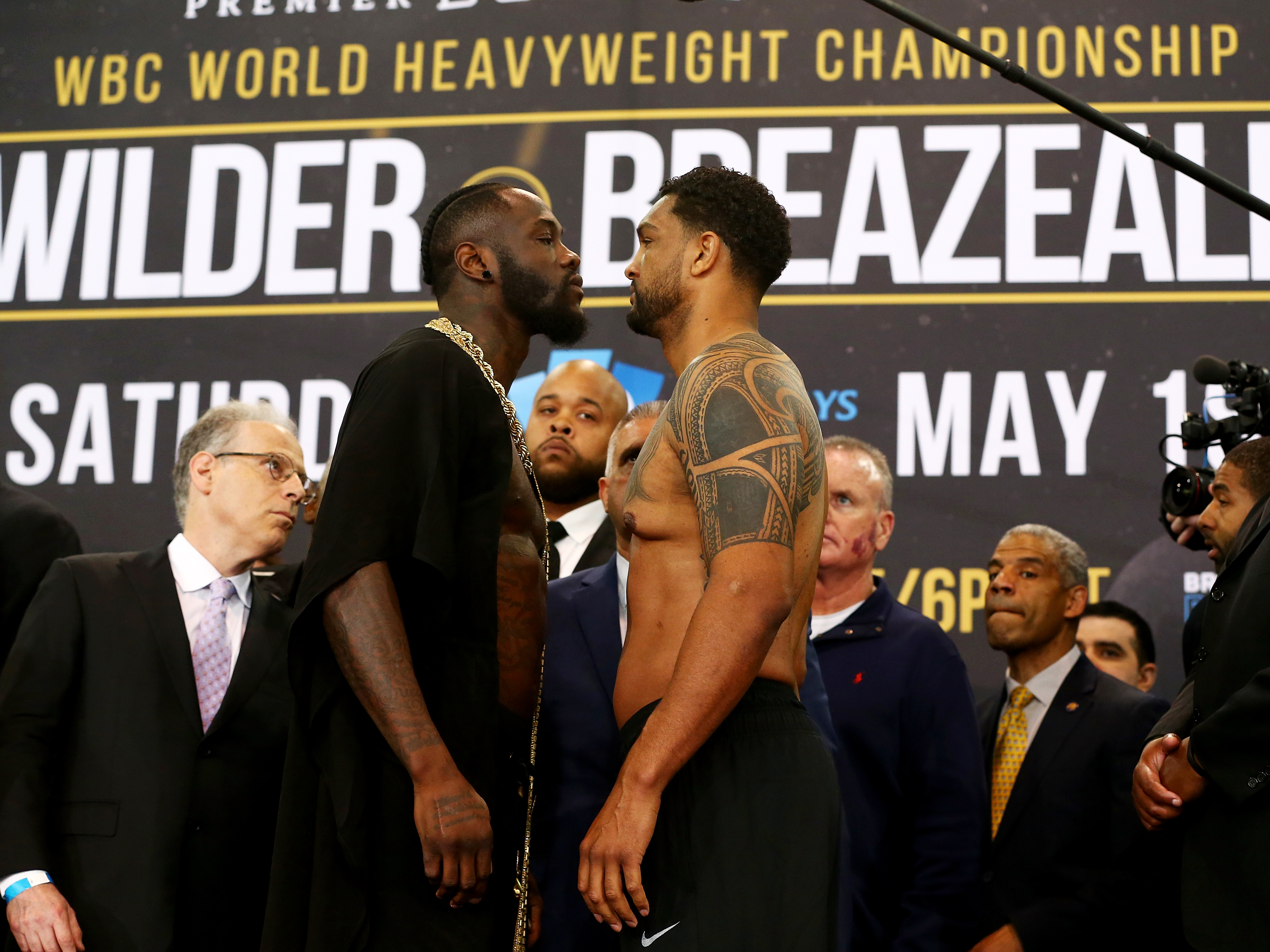 Deontay Wilder v Dominic Breazeale - Weigh-in