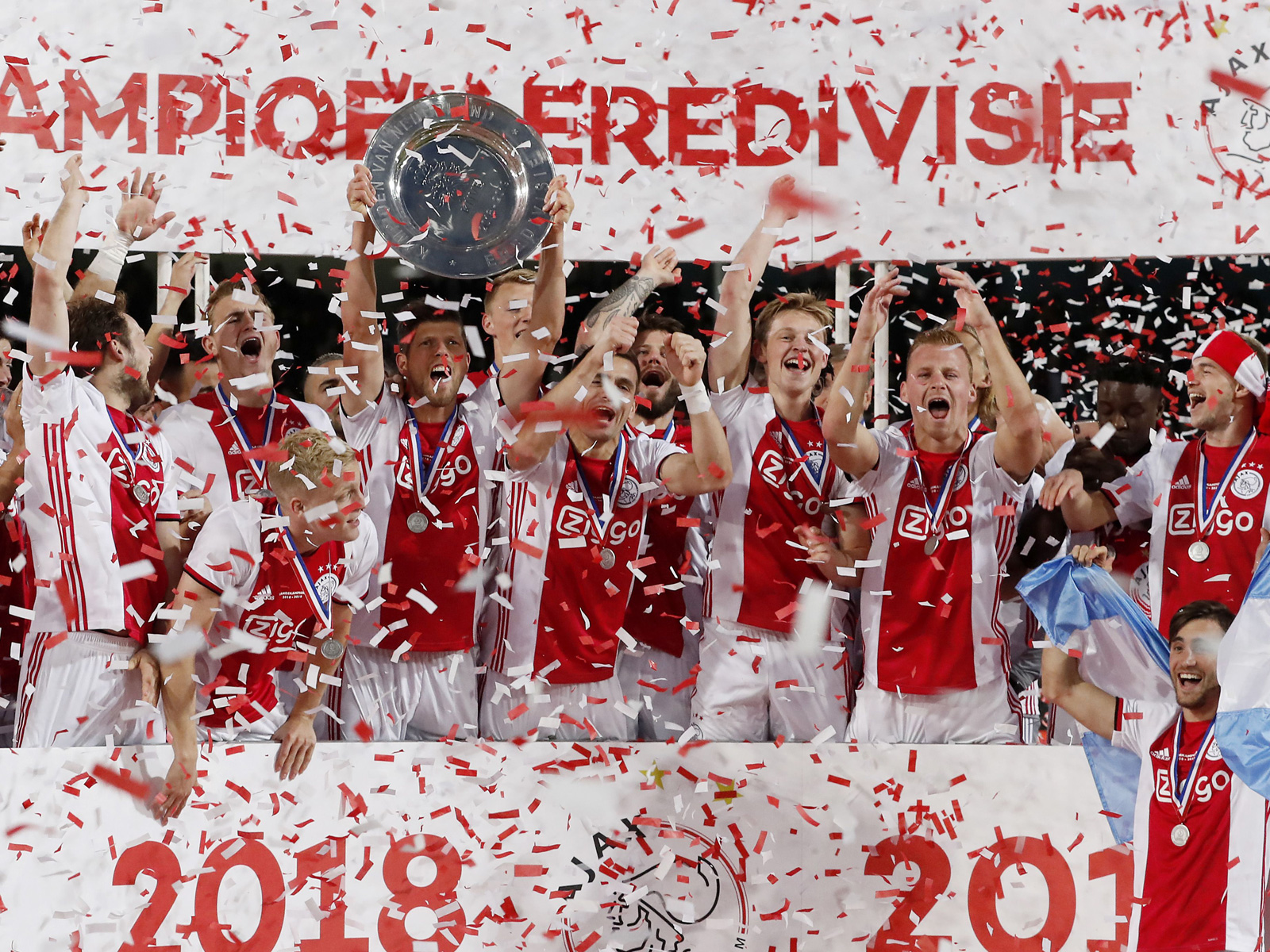 Ajax won the Eredivisie title