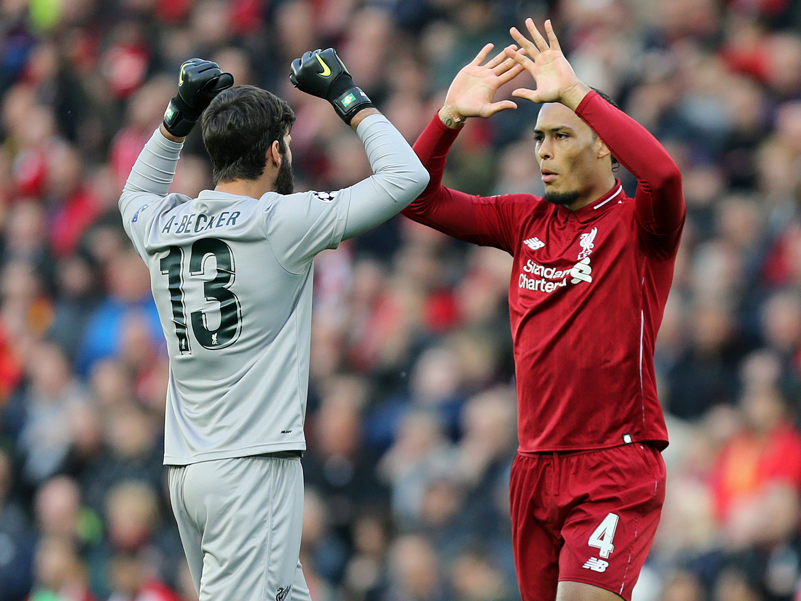 Alisson and Virgil van Dijk have been immense for Liverpool