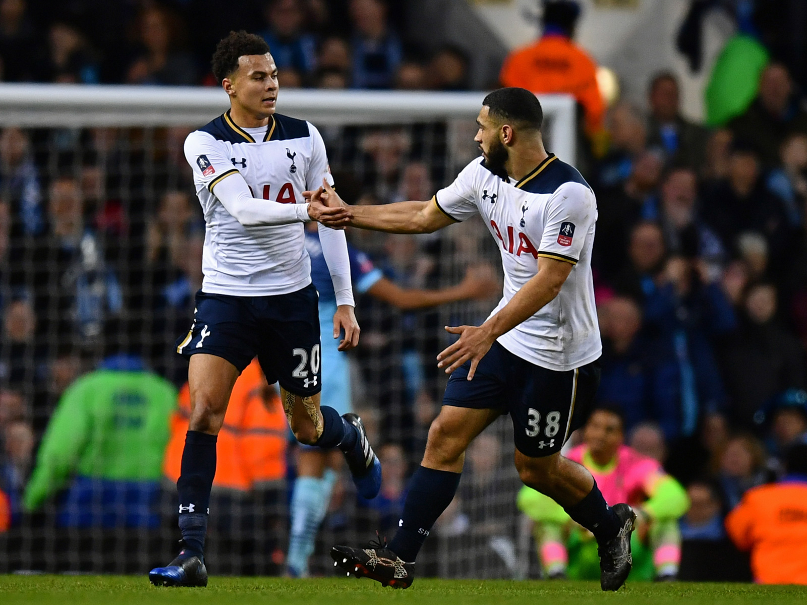 Cameron Carter-Vickers and Dele Alli in a League Cup match in 2017