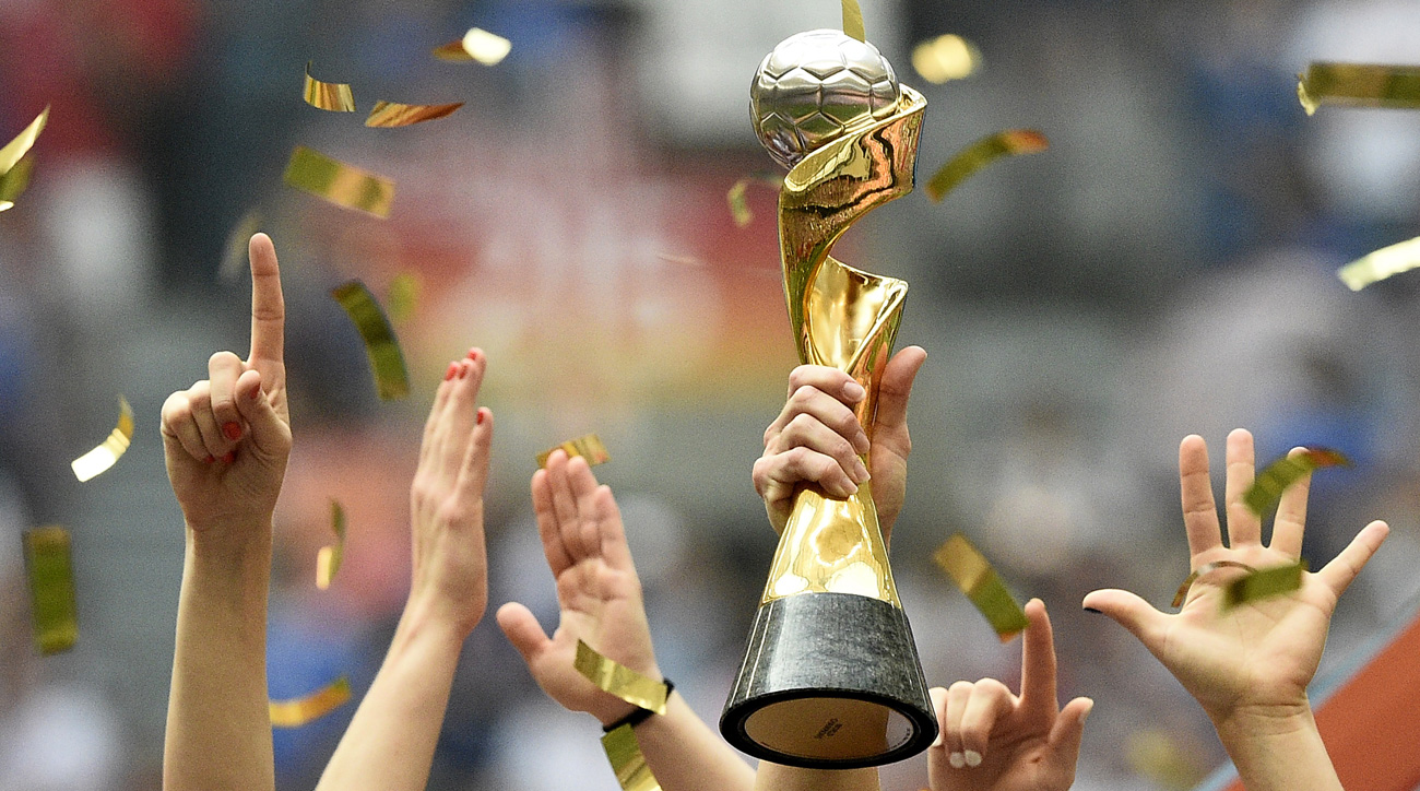 The 2019 Women's World Cup trophy is up for grabs