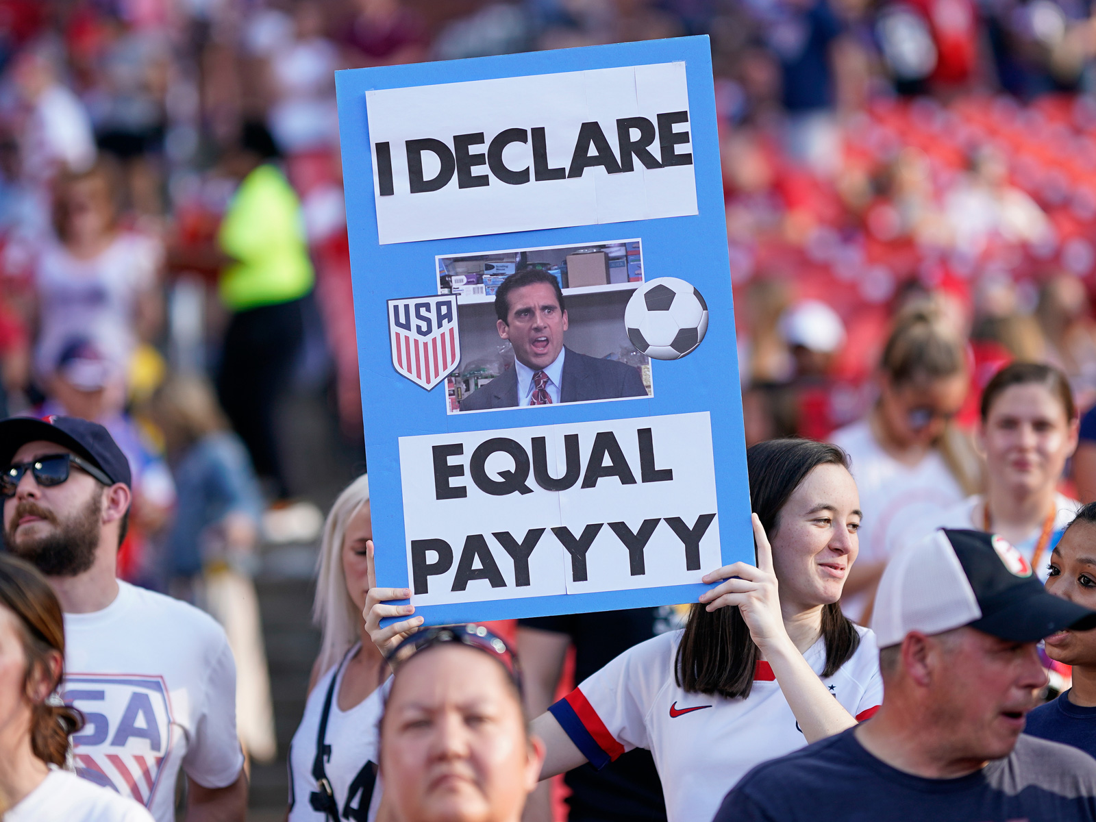 U.S. Soccer fans support the USWNT and its fight for equal pay