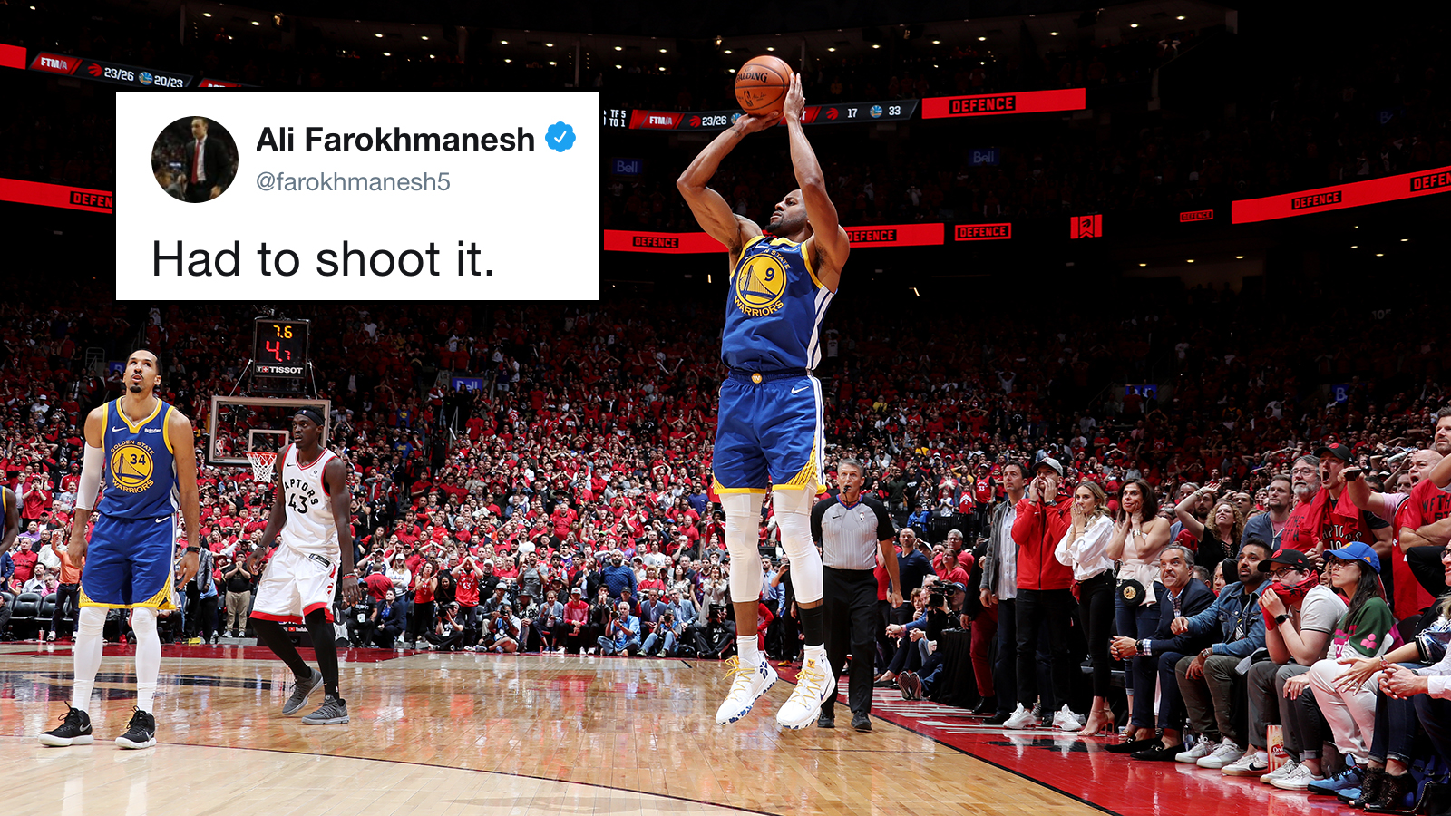 Andre Iguodala shot vs Raptors reminiscent of Ali Farokhmanesh