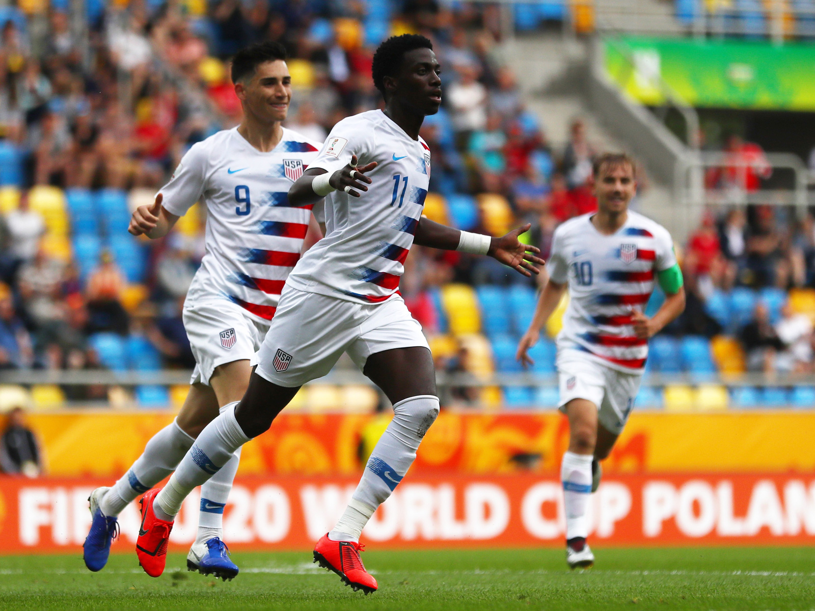 Tim Weah scores for the USA vs. Ecuador in the U-20 World Cup