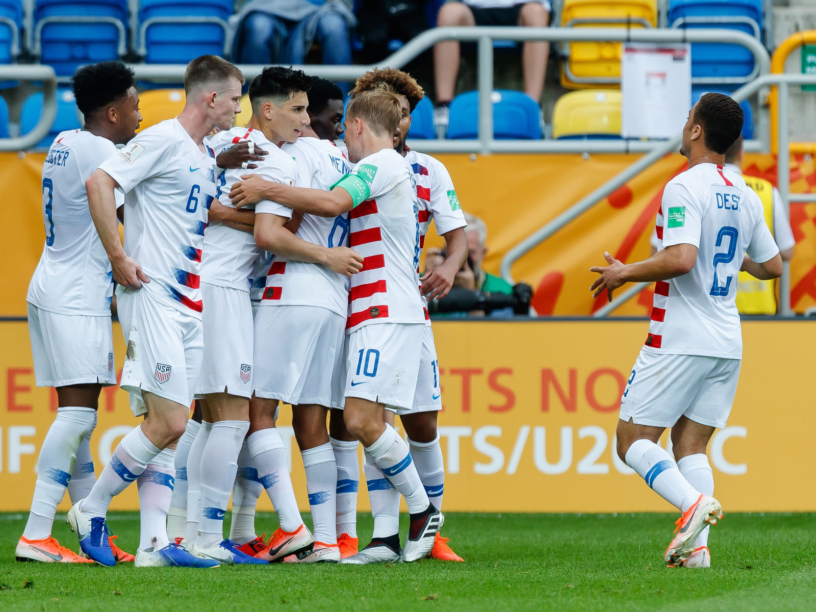 The USA U-20 national team loses to Ecuador in the World Cup quarterfinals