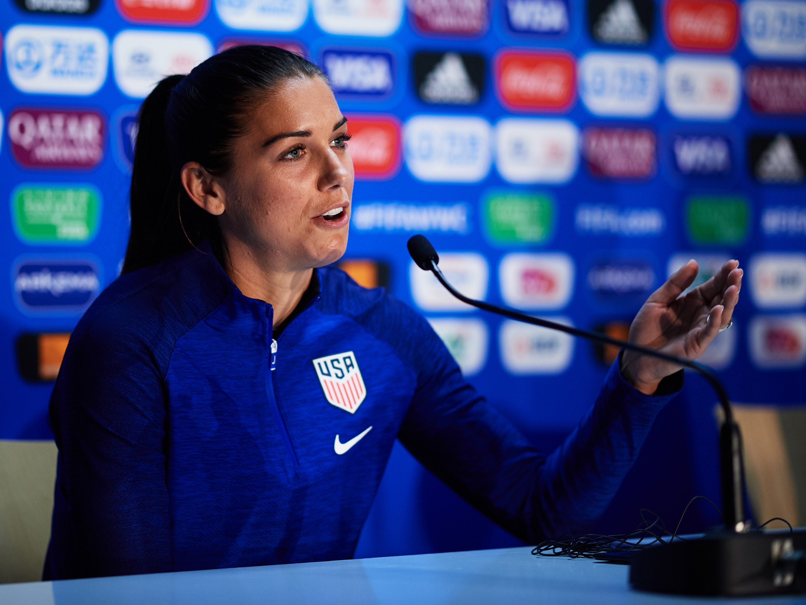 Alex Morgan Gives USA Early Lead Over Thailand in Women's World Cup