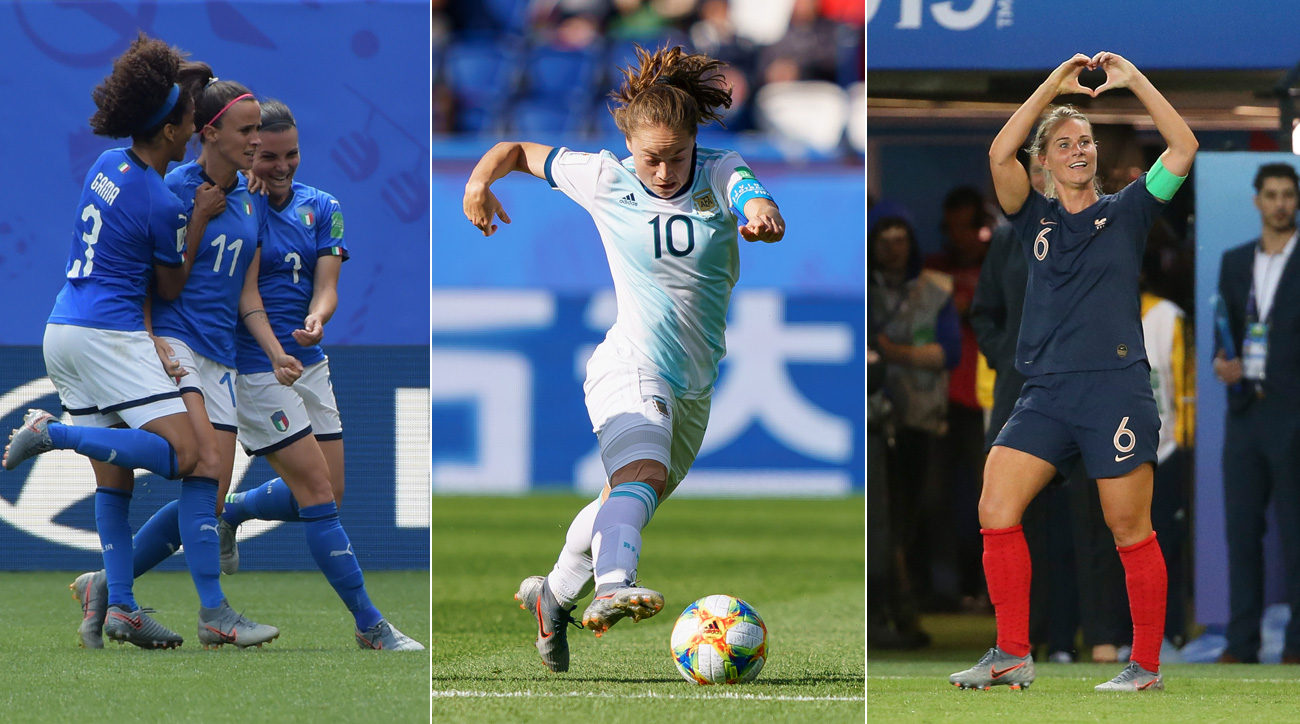 Italy, Argentina and France impressed in their Women's World Cup openers
