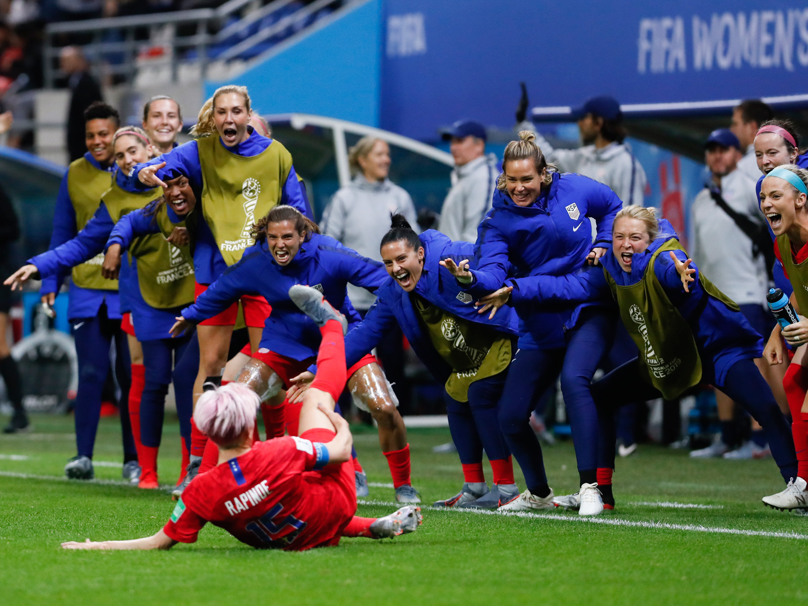 Megan Rapinoe scores one of the USA's 13 goals vs. Thailand