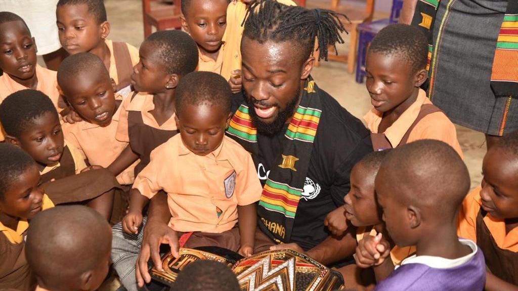 WWE Champion Kofi Kingston on trip to Ghana with UNICEF