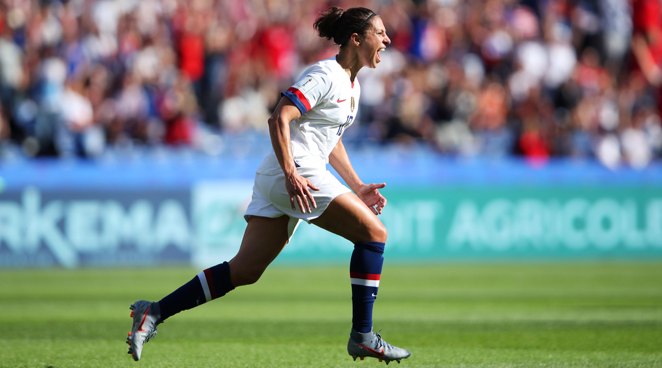 Carli Lloyd scores for the USA vs. Chile at the Women's World Cup