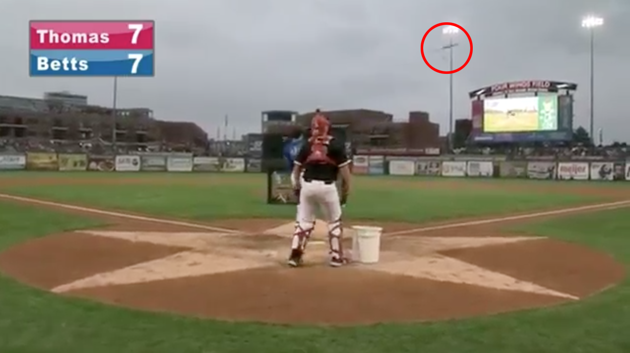 Rays prospect Chris Betts flips bat at home run derby (video)