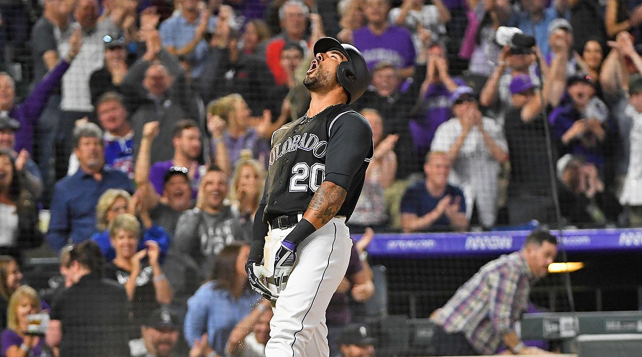 Rockies vs Padres Coors Field home runs stats crazy 2019