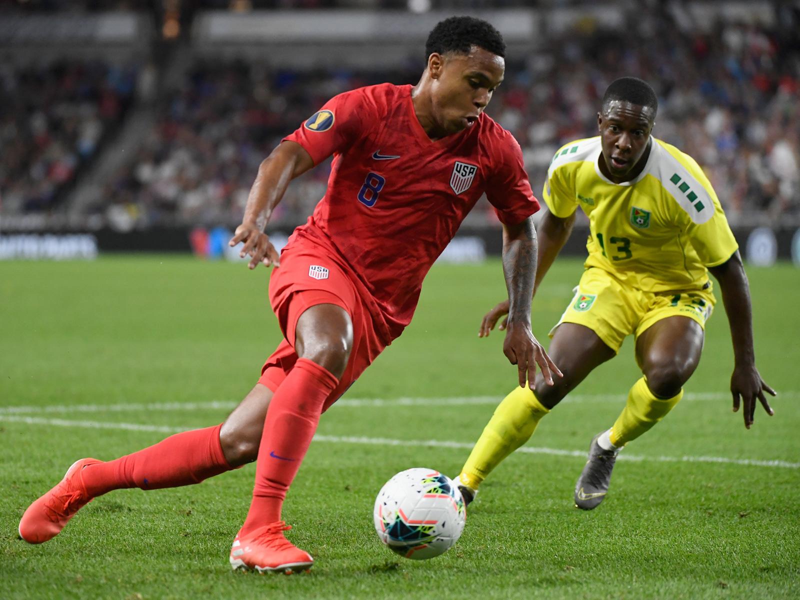 Weston McKennie was injured in the USA's win over Guyana