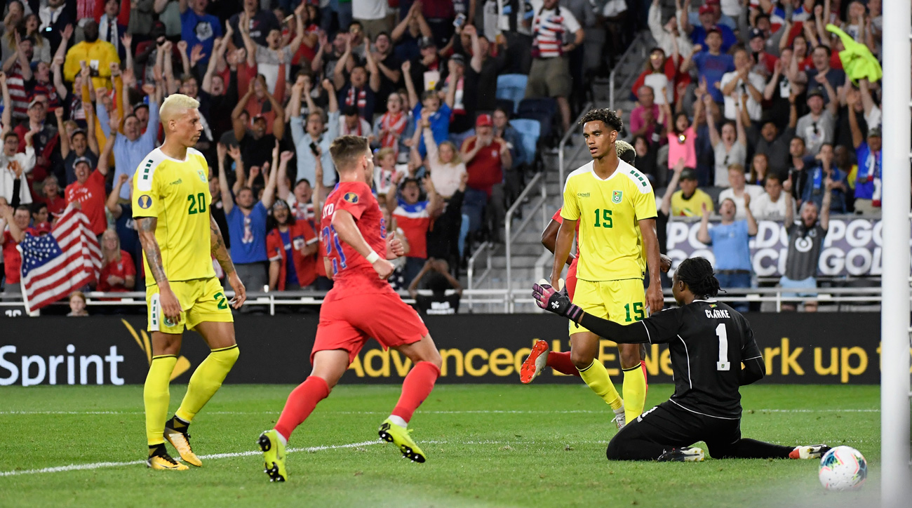 Tyler Boyd scores for the USA vs. Guyana in the Gold Cup