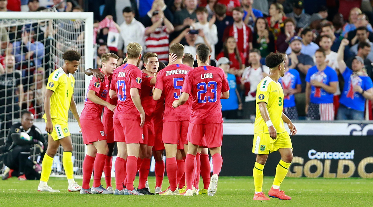 The USA beats Guyana to open the 2019 Concacaf Gold Cup