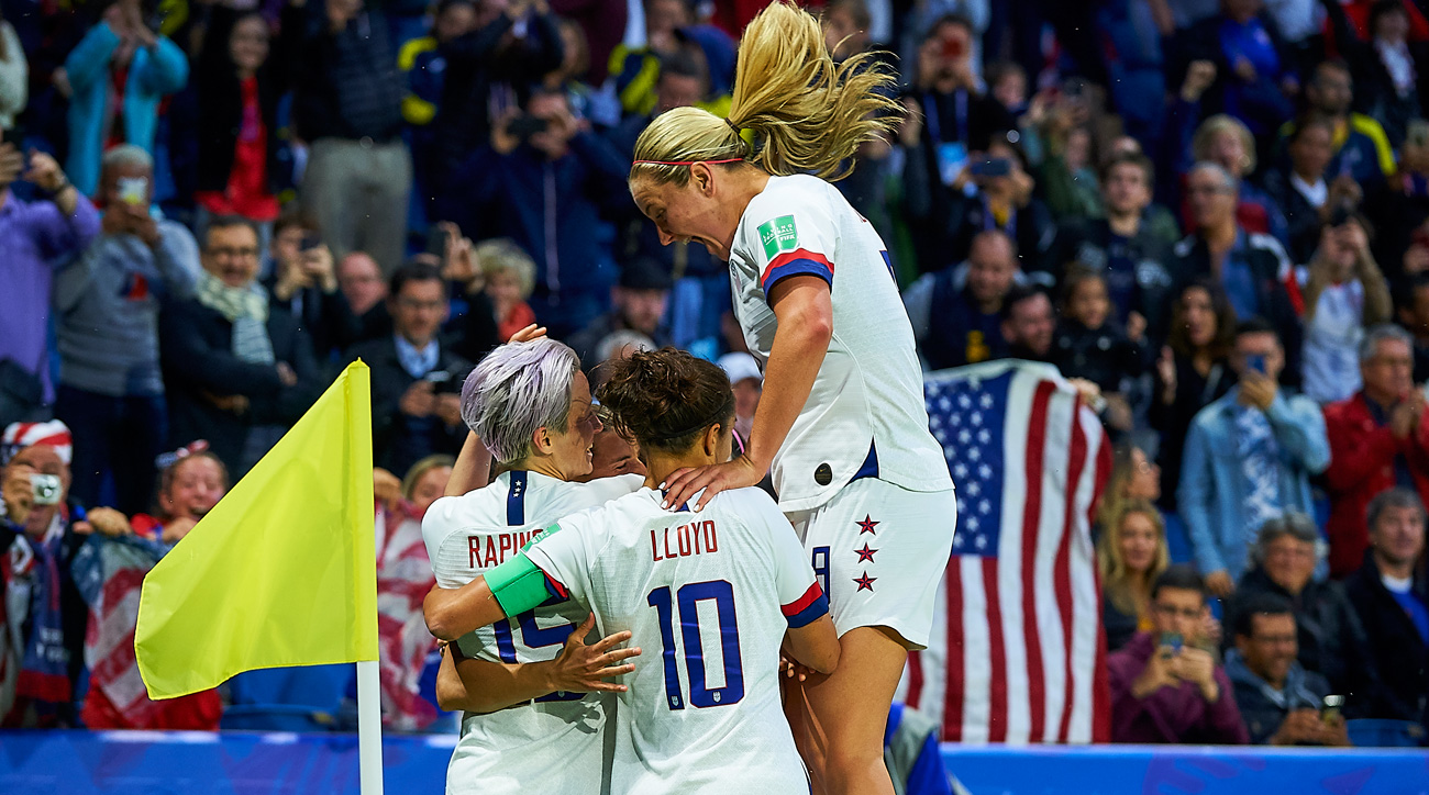 The USA beats Sweden to win its Women's World Cup group