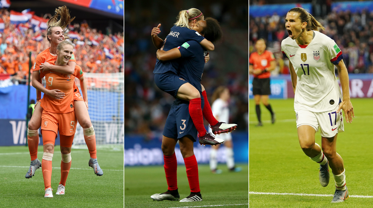 The Netherlands, France and USA are on to the Women's World Cup round of 16