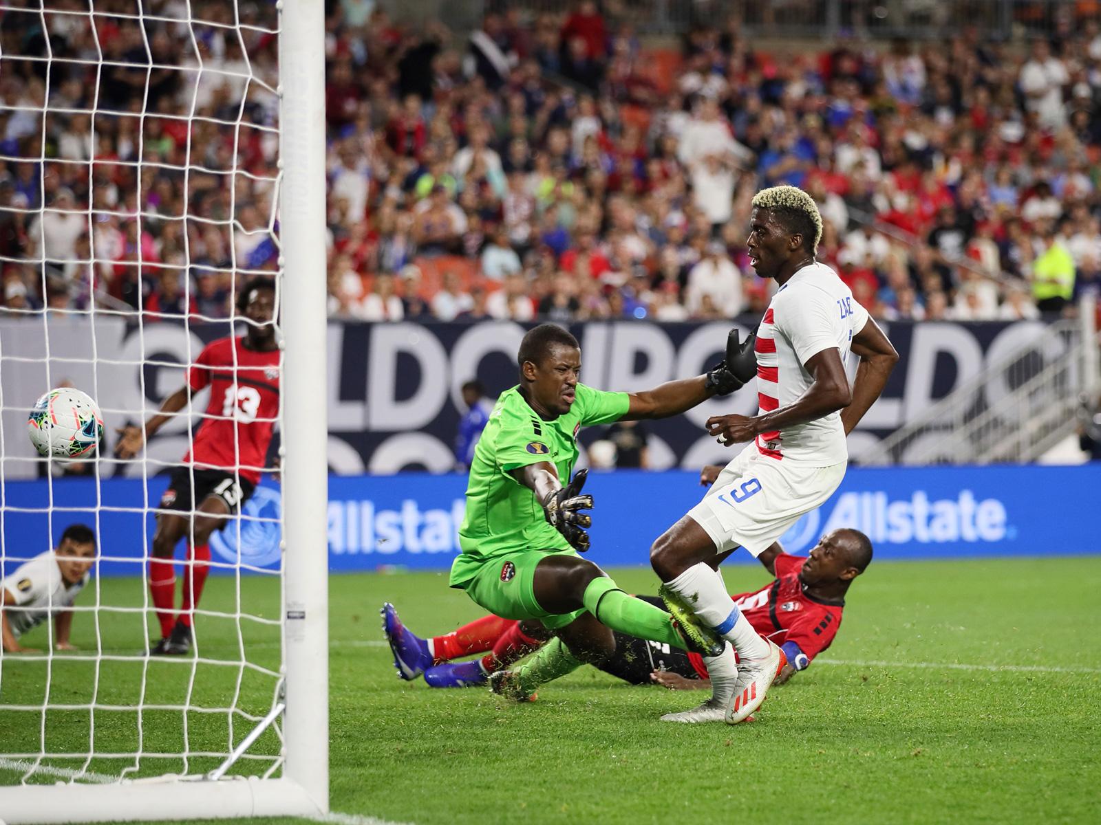 Gyasi Zardes scores for the USA vs. Trinidad and Tobago