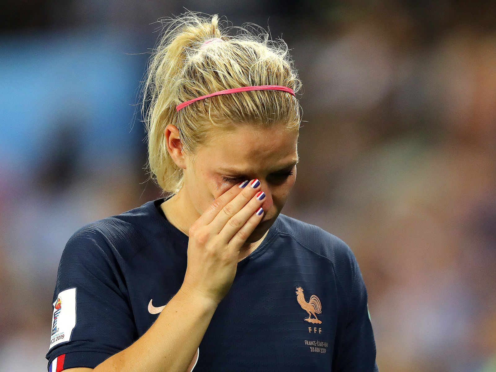 Eugenie Le Sommer and France are out of the Women's World Cup