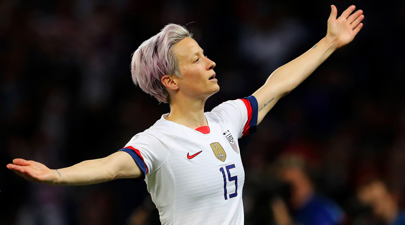 Megan Rapinoe scores twice for the USA vs. France at the Women's World Cup
