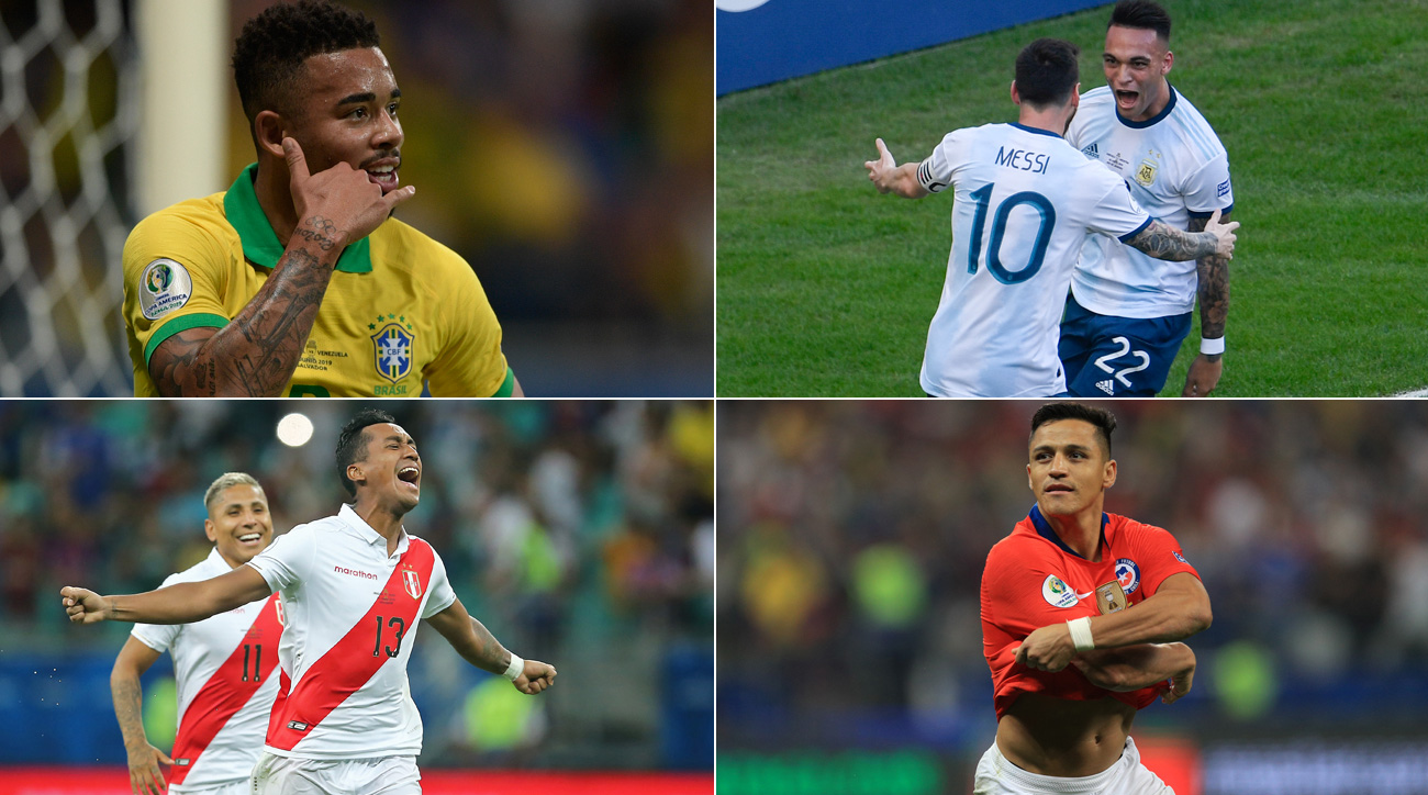 Brazil, Argentina, Peru and Chile remain alive at Copa America