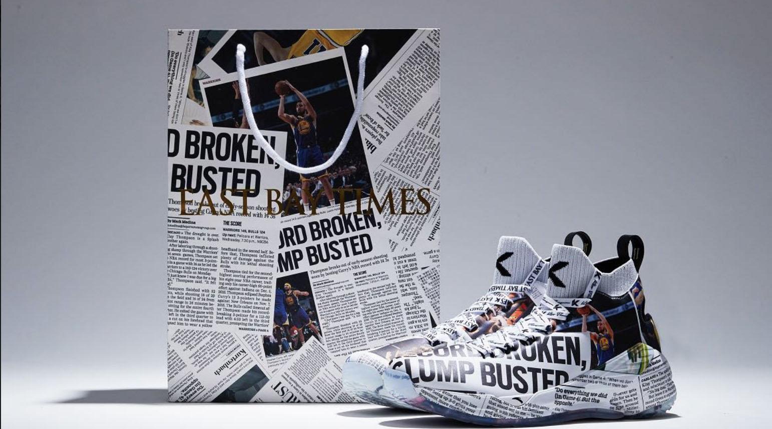 Klay Thompson newspaper-inspired sneakers