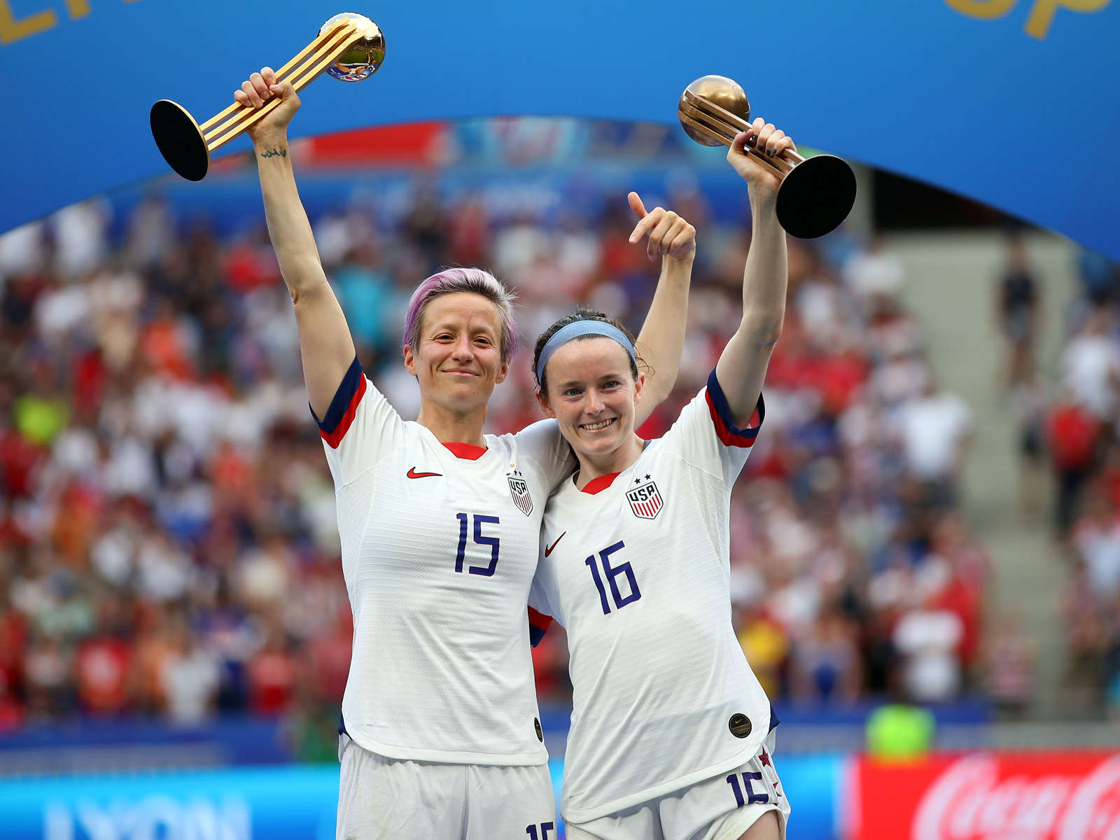 Megan Rapinoe and Rose Lavelle score in the Women's World Cup final