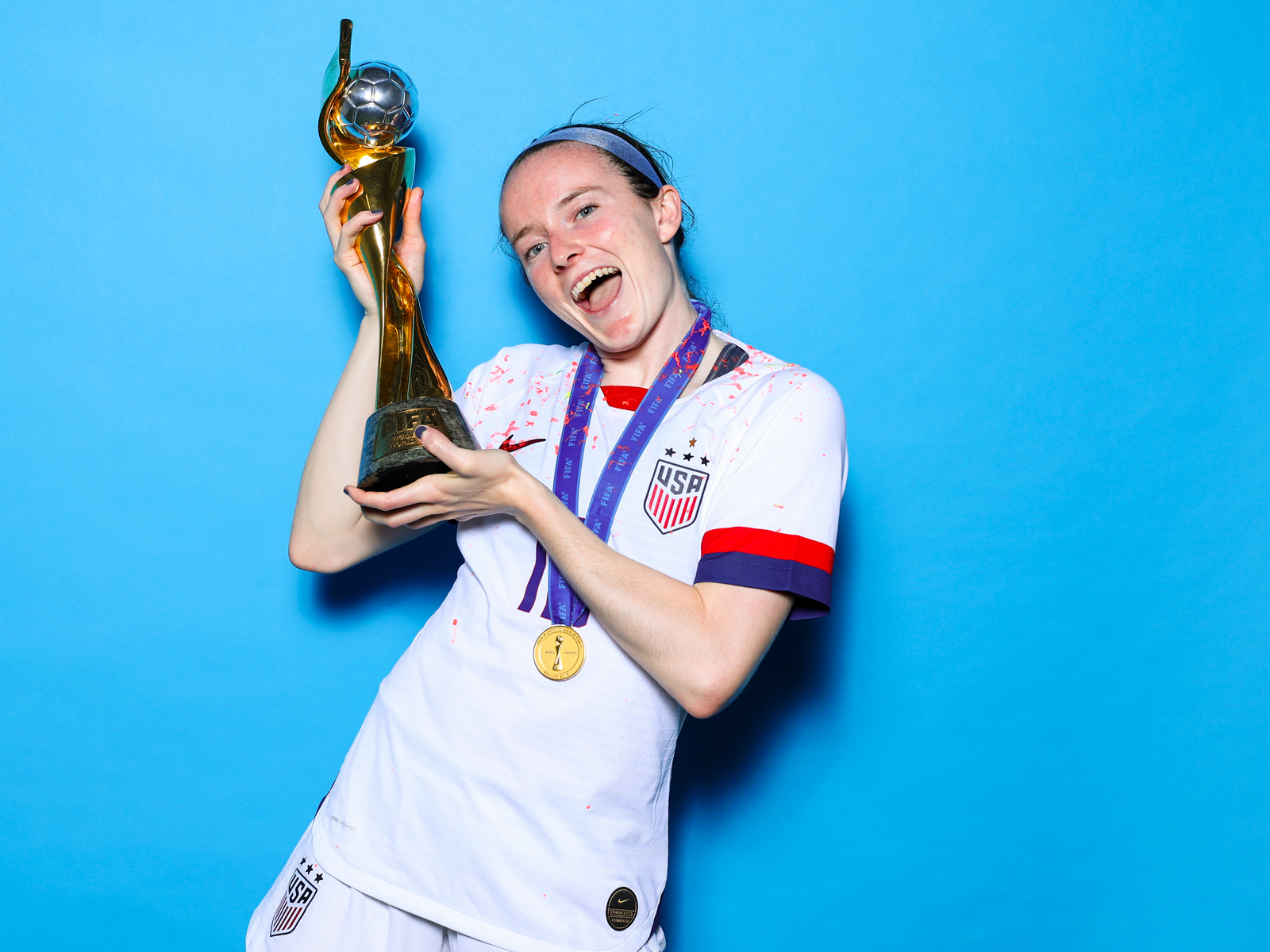 Rose Lavelle scores in the Women's World Cup final