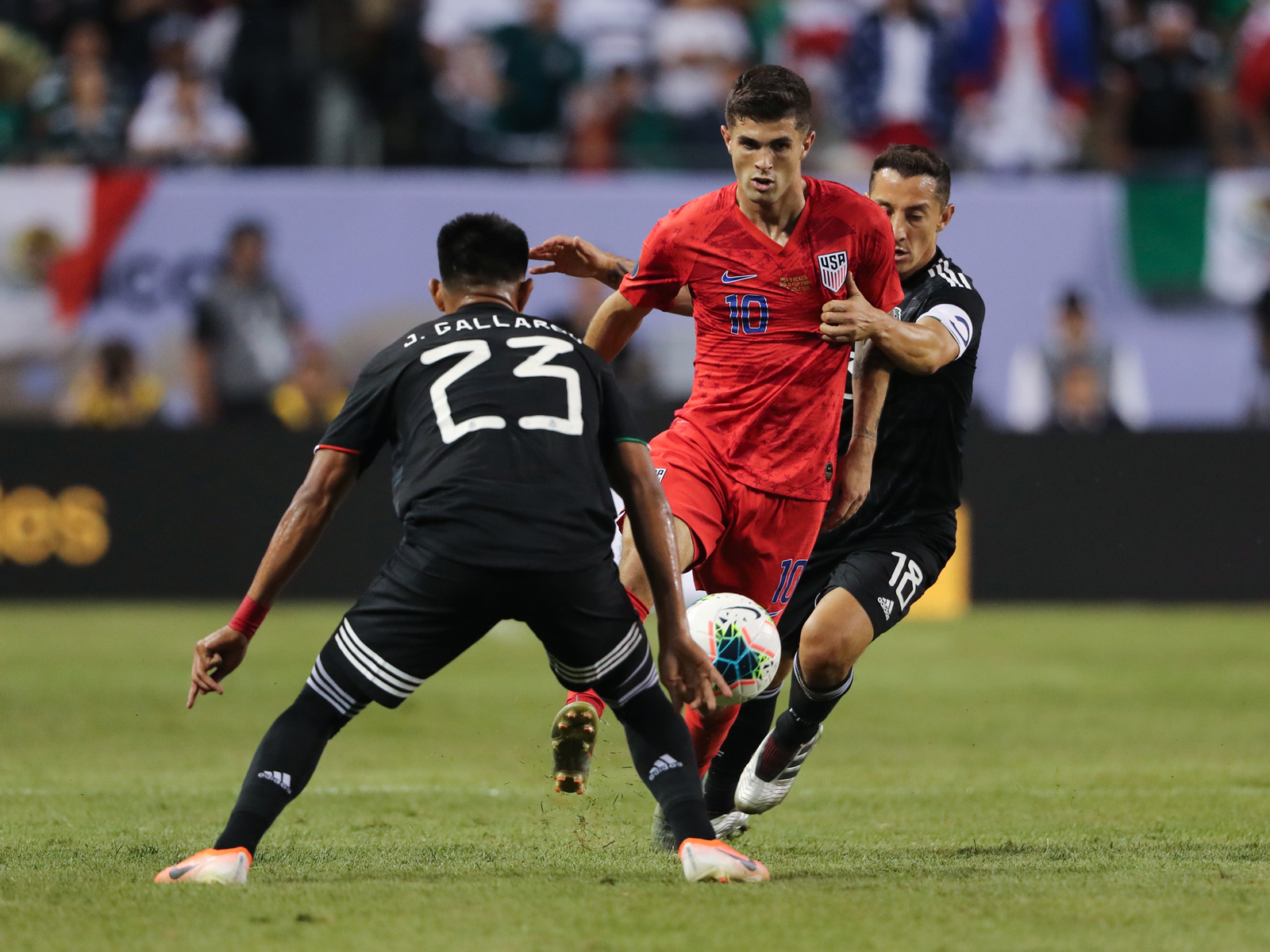 Christian Pulisic and the USA fell to Mexico in the Gold Cup