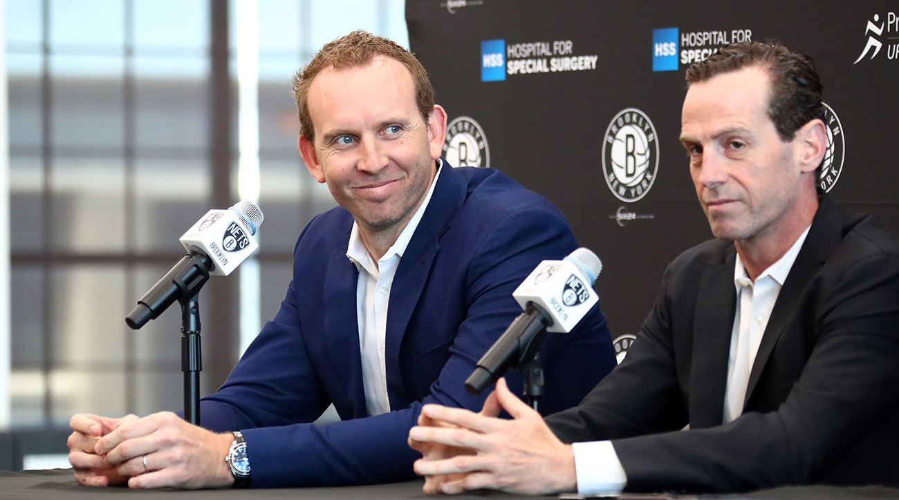 Brooklyn Nets Introduce D'Angelo Russell and Timofey Mozgov during a Press Conference