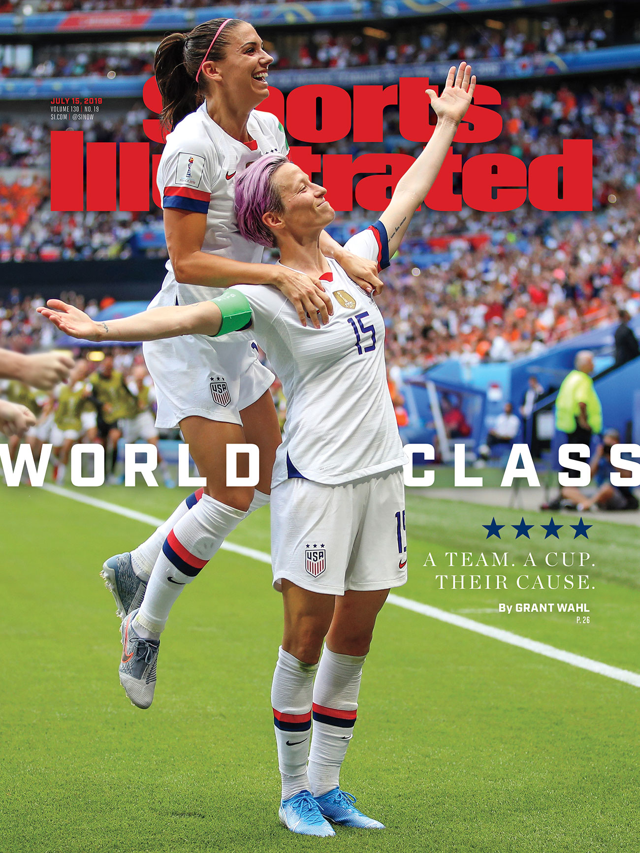 uswnt 2019 champions sports illustrated cover megan rapinoe alex morgan