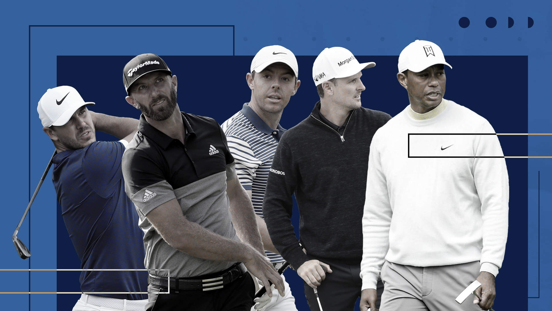 british open  ranking tiger woods and top 100 at portrush