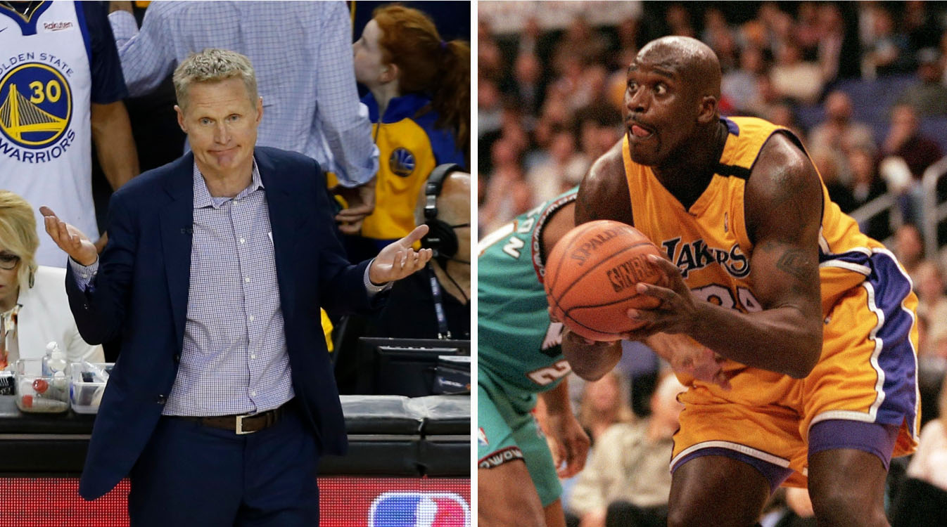 Shaq could have to lick Steve Kerr's feet