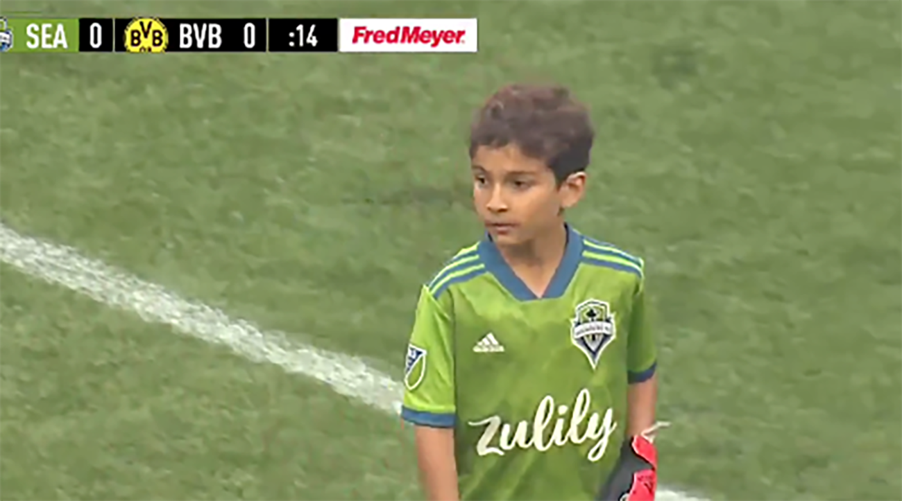 Bheem Goyal opening save for sounders