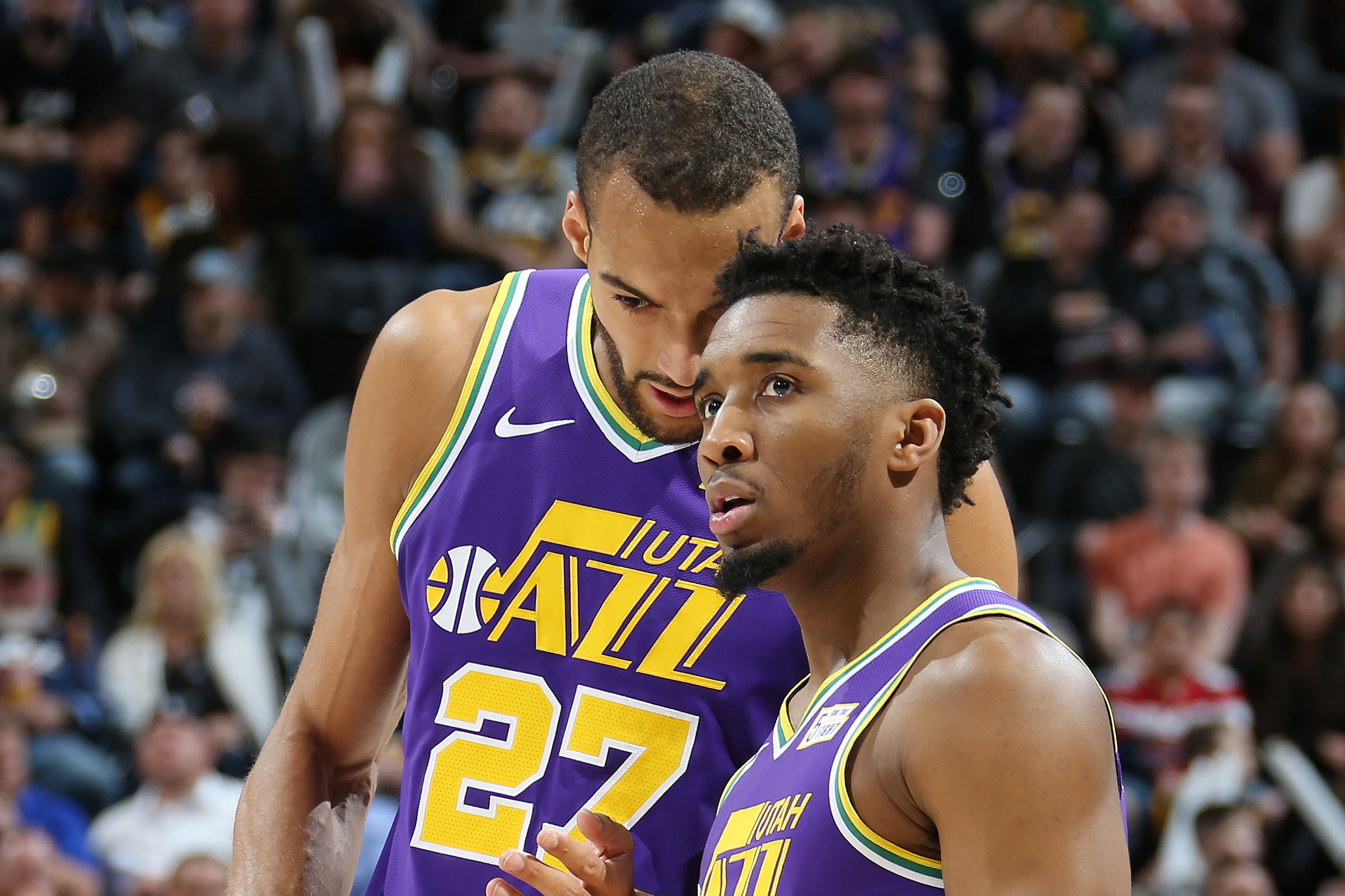 Rudy Gobert and Donovan Mitchell