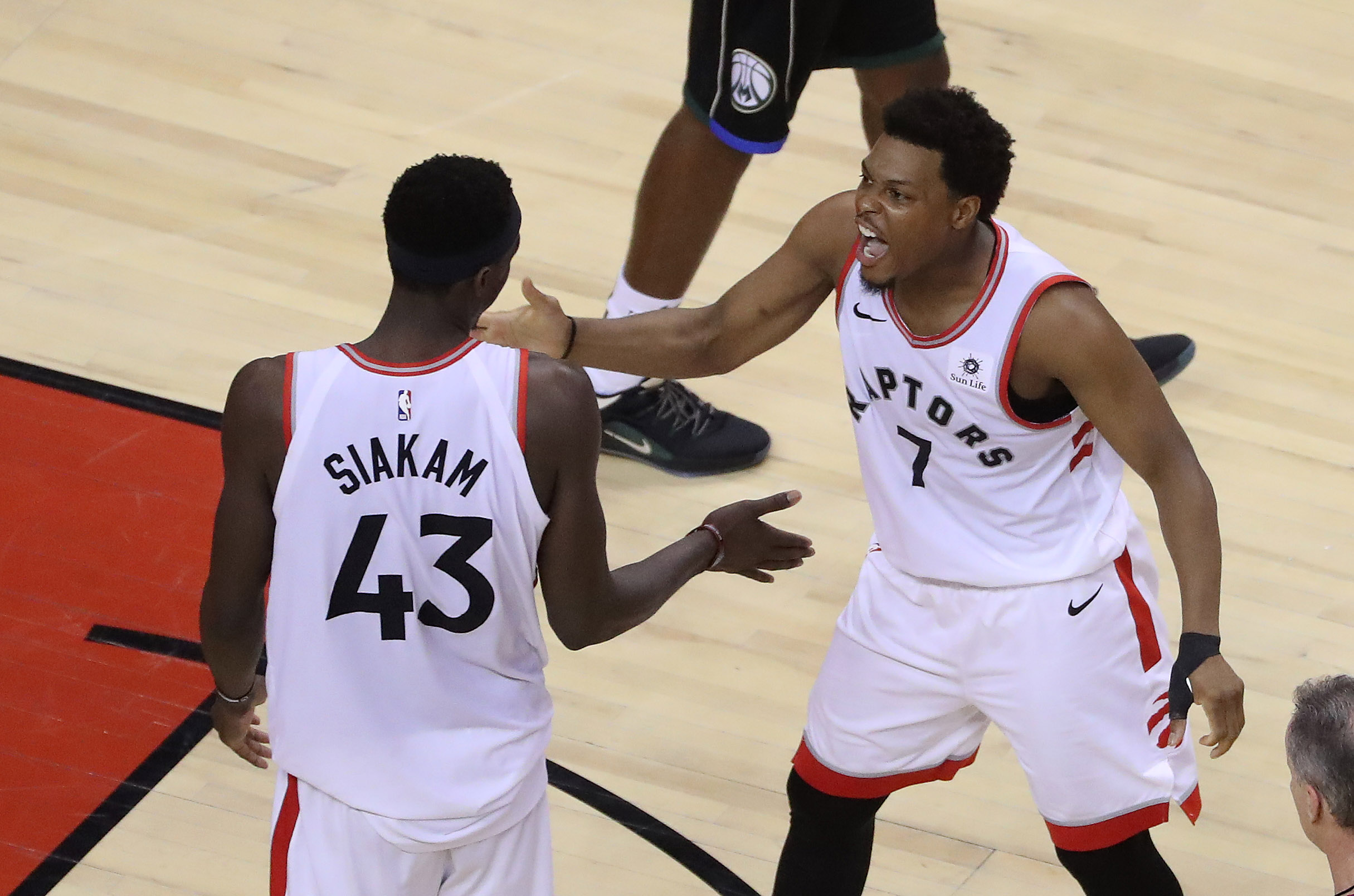 Pascal Siakam and Kyle Lowry