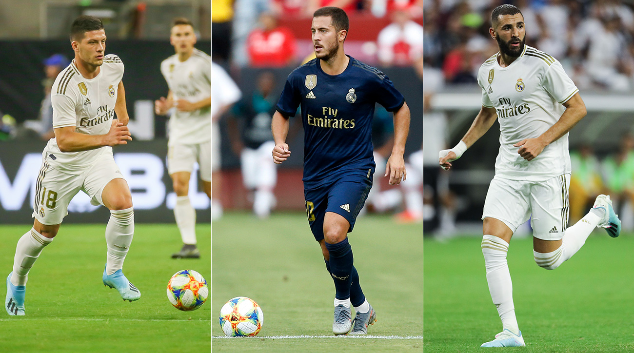 Luka Jovic, Eden Hazard and Karim Benzema lead Real Madrid's remade attack.