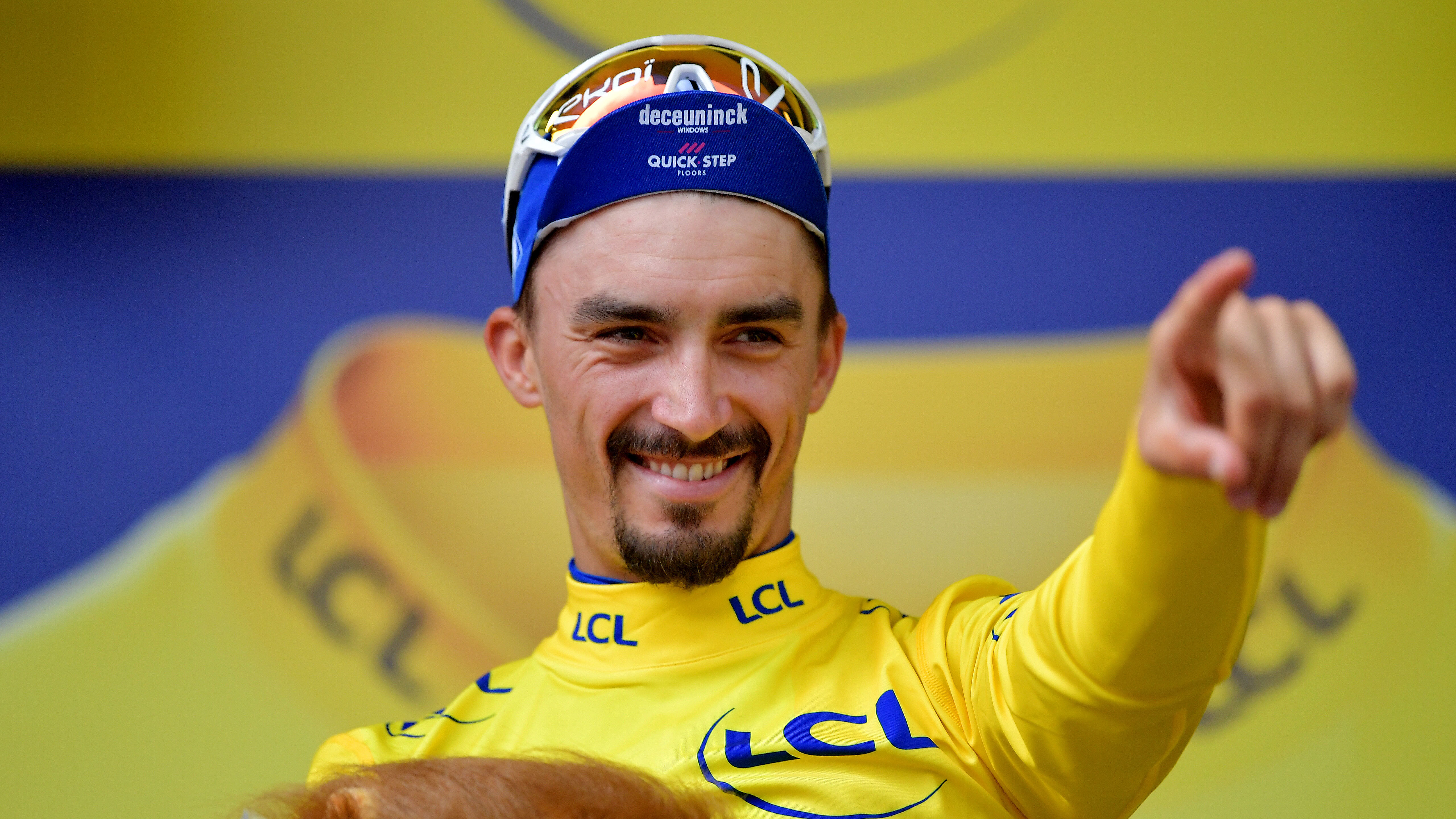 Julian Alaphillipe: Tour de France leader gives yellow jersey to kid