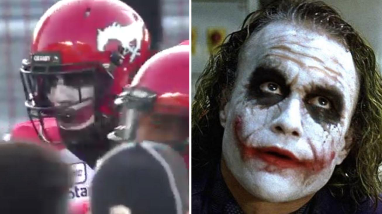 Robertson Daniel: Calgary Stampeders CB wears Joker facepaint