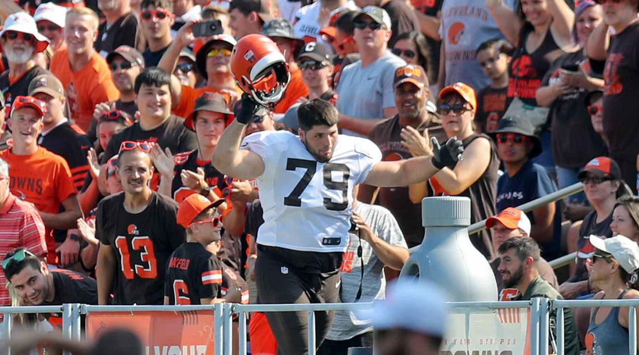 Drew Forbes at Cleveland Browns training camp