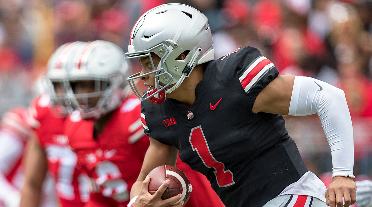 Ohio State football Justin Fields fall camp 2019