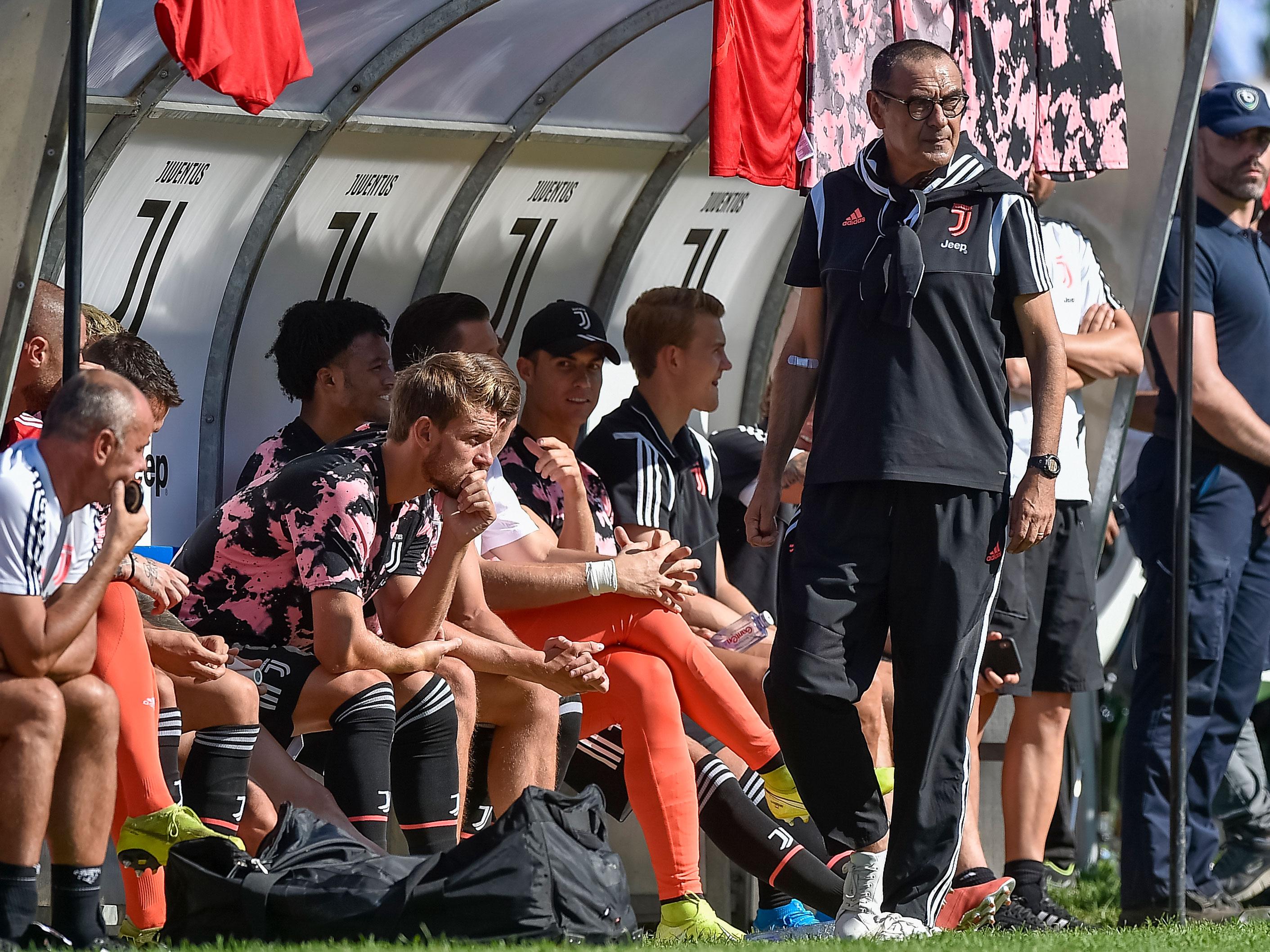 Maurizio Sarri is in his first season coaching Juventus