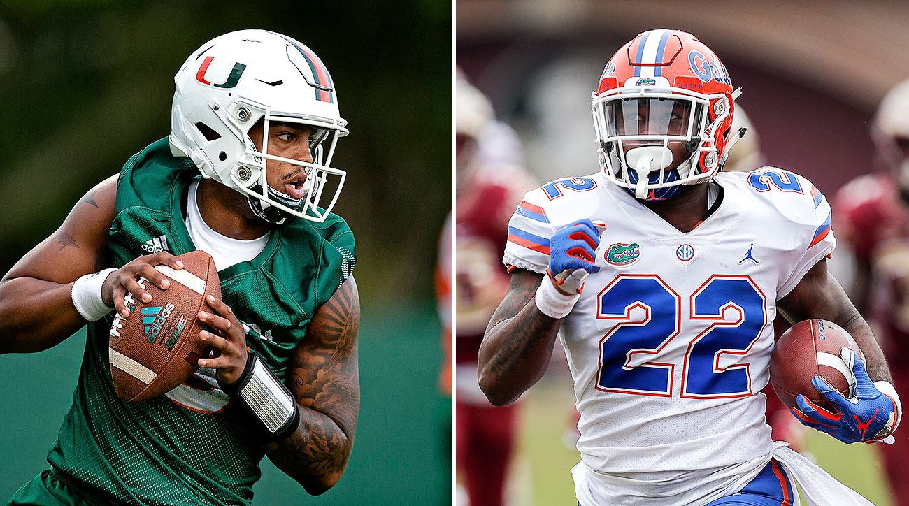 Florida vs Miami football Jarren Williams Lamical Perine